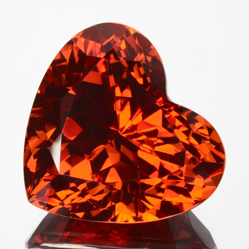 ~MIND BLOWING~ 19.53 Cts Natural Reddish Orange Spessartite Garnet Heart Na