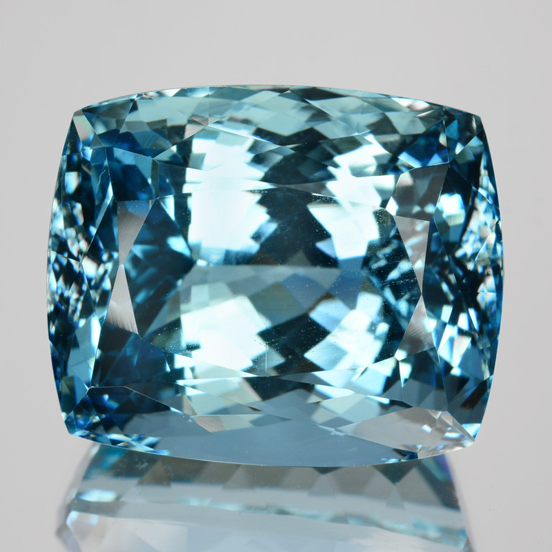 ~STUNNING~ 28.40 Cts Natural Santa maria Blue Aquamarine Cushion Cut Brazil