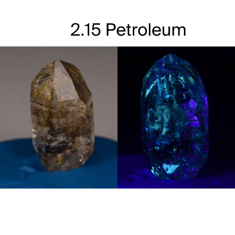 Rare 2.15 ct Natural Ancient Fluorescent Quartz With Ancient Petrolium
