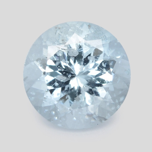 1.78 Cts Un Heated  Blue  Natural Aquamarine Loose Gemstone