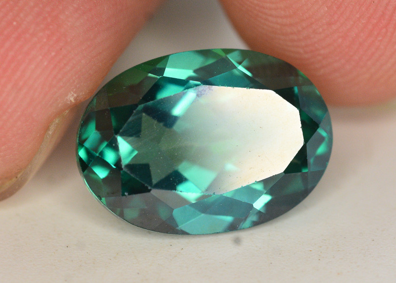 7.95 Cts Emerald Green Surface Treated Topaz