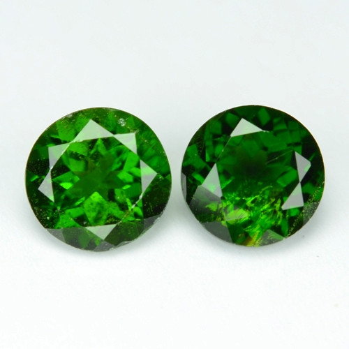 Chrome Diopside 1.62 Cts 2 Pcs Natural Green Color Loose Gemstone