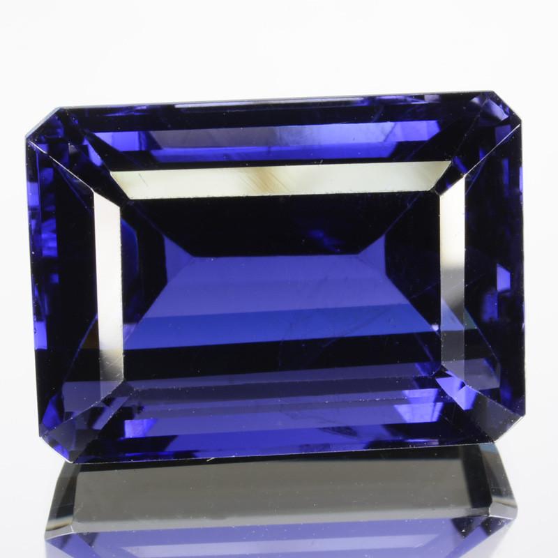 13.65Ct Natural FIne Blue Iolite Tanzania Octagon