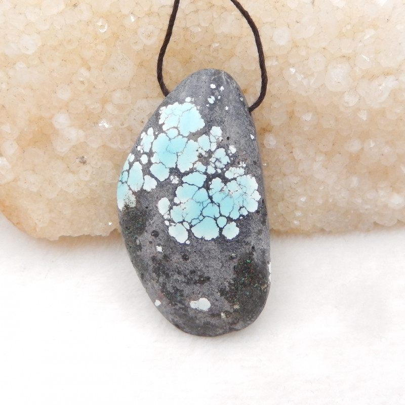 81.5cts Lucky Turquoise ,Handmade Gemstone ,Turquoise Pendant ,Lucky Stone