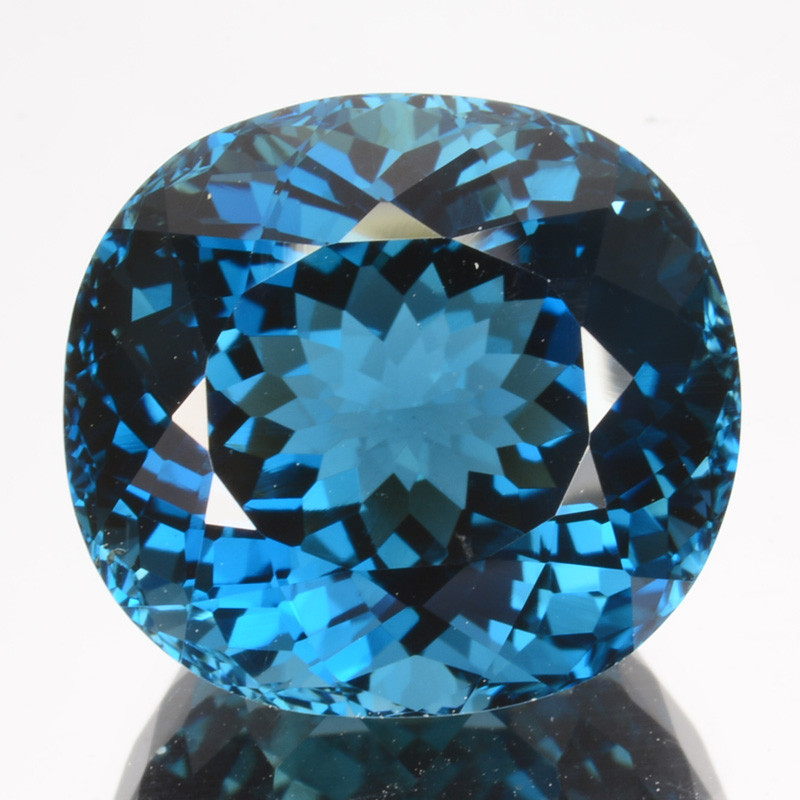 ~MIND BLOWING~ 14.68 Cts Natural London Blue Topaz 14mm Cushion Cut Brazil