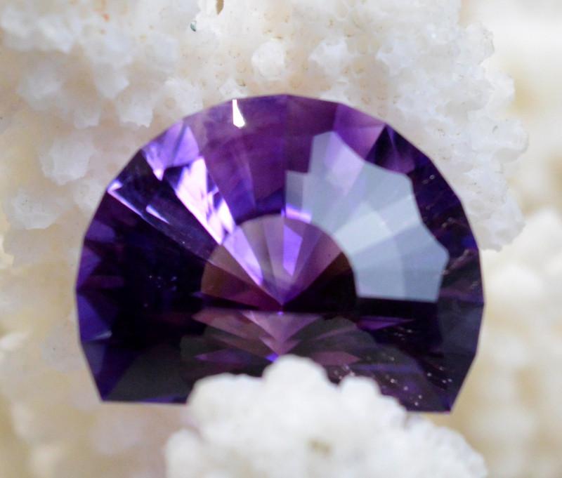 Améthyste 19.08 carats - Tata, Maroc -- Taillé en France - Qualité exceptio