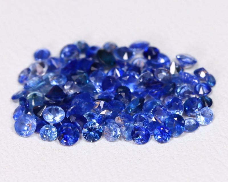 2.48Ct Calibrate Round 2.1mm Natural Vivid Blue Sapphire C1005