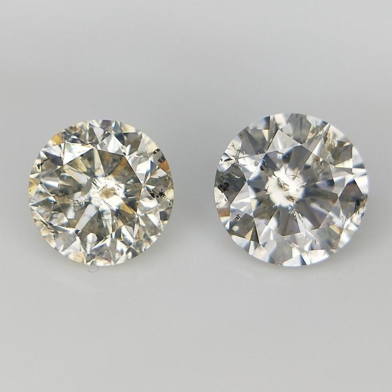 2/0.72 CT . Round Natural Diamonds . Diamonds For Jewelry