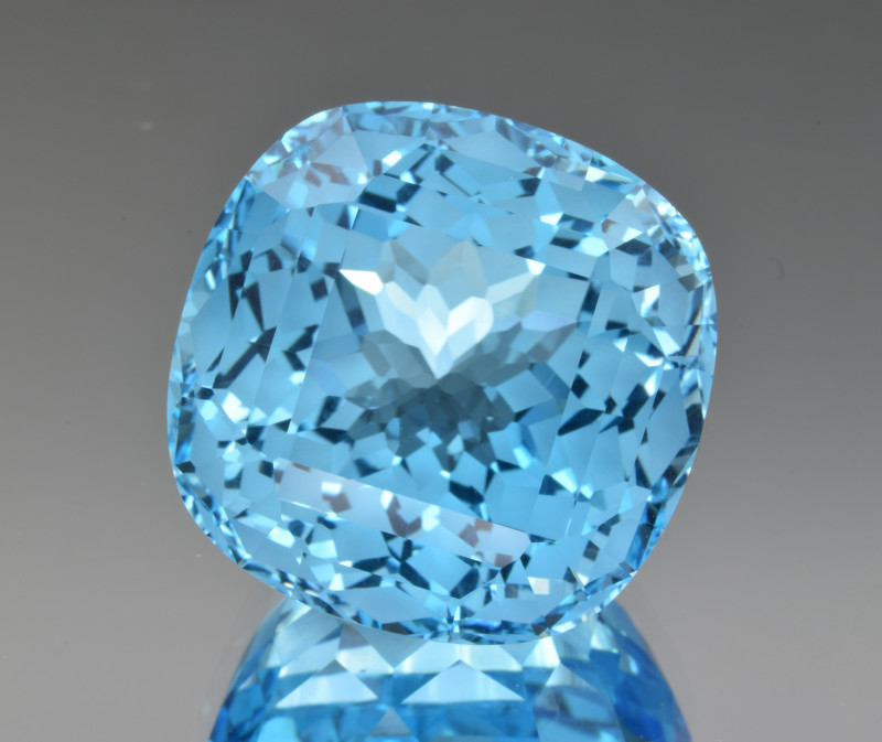 Natural Blue Topaz 66.17 Cts Perfect Precision Cut