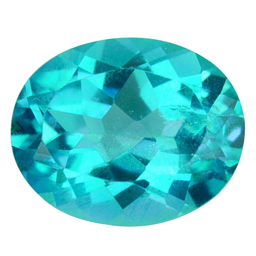 2.98Cts Natural Paraiba colour coated topaz oval 10 X 8mm