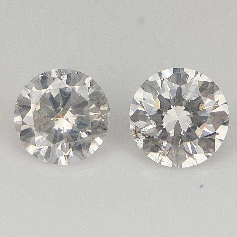 2/0.15 CTS , Natural Light Colored Diamonds , Round Diamonds