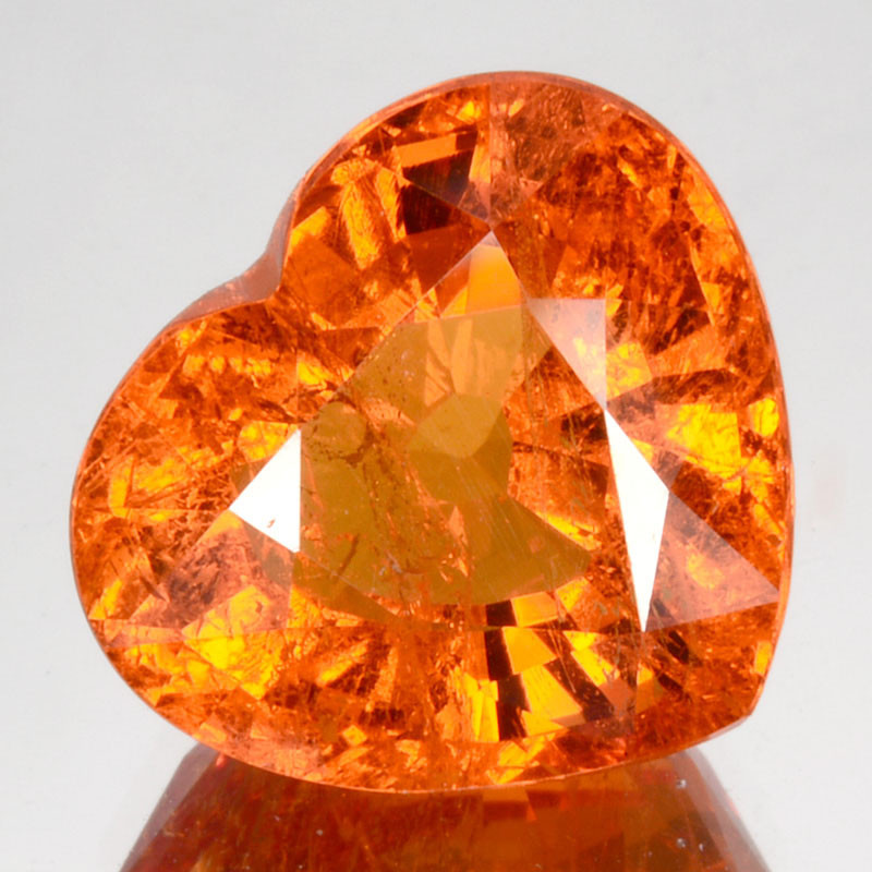 ~LOVELY~ 7.88 Cts Natural Fanta Orange Spessartite Garnet Heart Cut Namibia