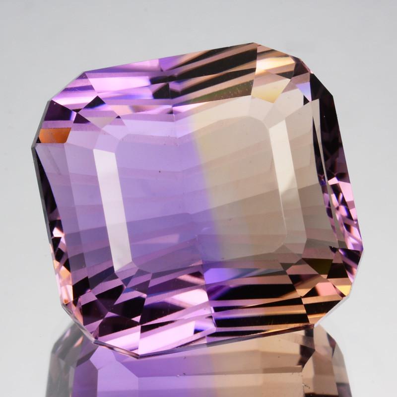 ~CUSTOM CUT~ 29.54 Cts Natural Bi-Color Ametrine Fancy Custom Cut Bolivia