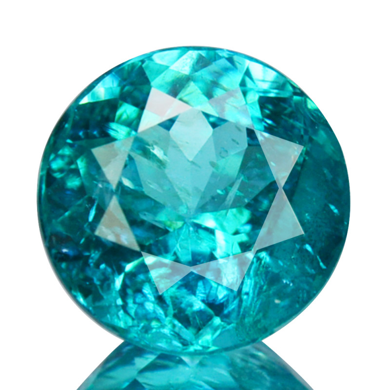 ~PRETTY~ 1.86 Cts Natural Apatite Paraiba Blue Green Color Round Brazil
