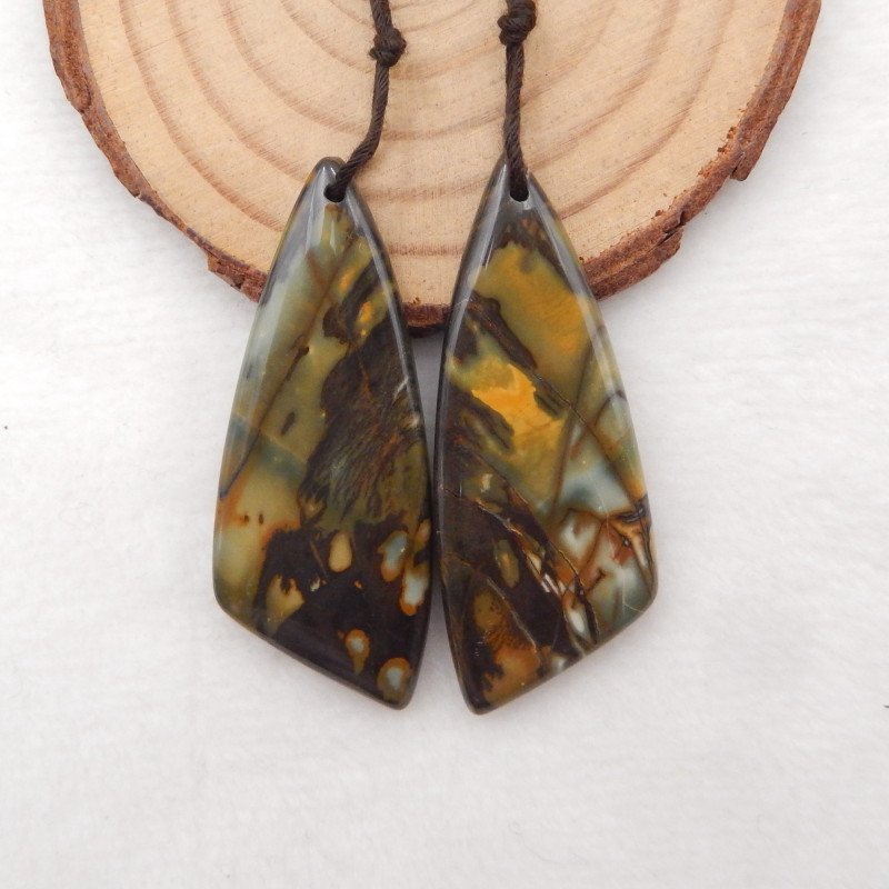 71cts Multi color Jasper Earrings Gemstone earrings beads, stone for earrin