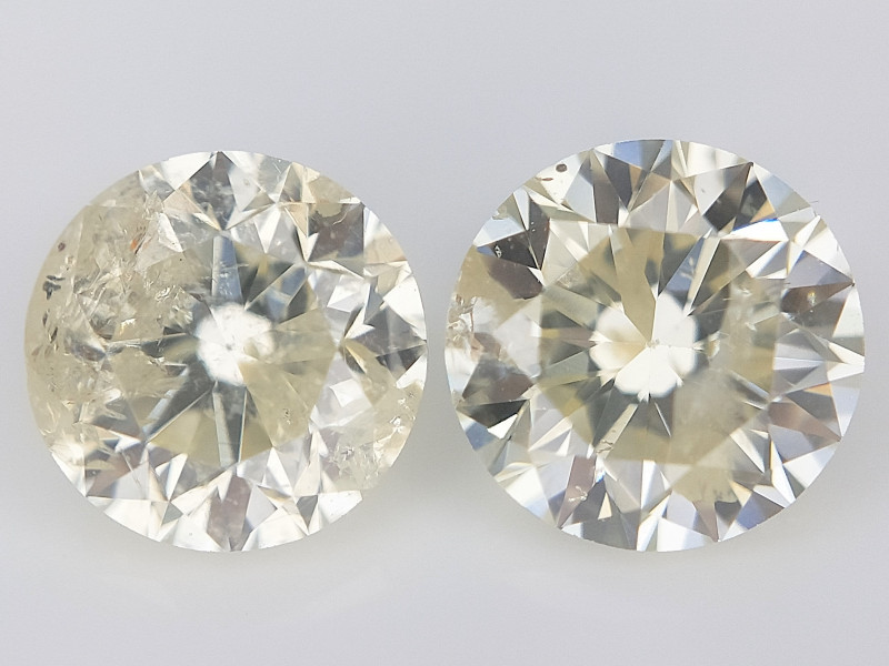 2/0.66 ct , Natural Round Diamonds , Diamonds For Jewelry