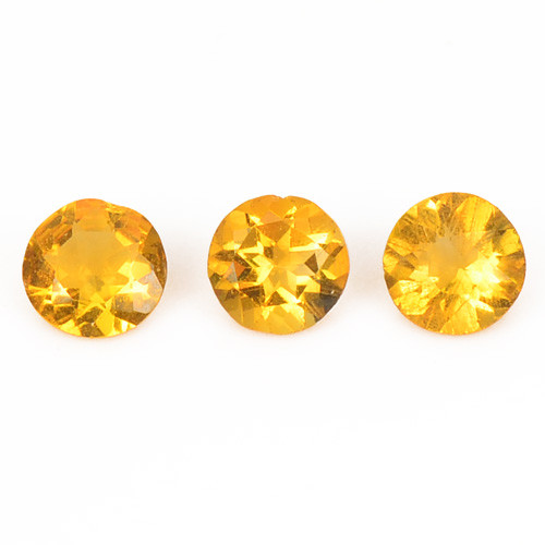 0.39 Cts 4 Pcs Fancy Golden Yellow Color Natural Citrine Gemstone