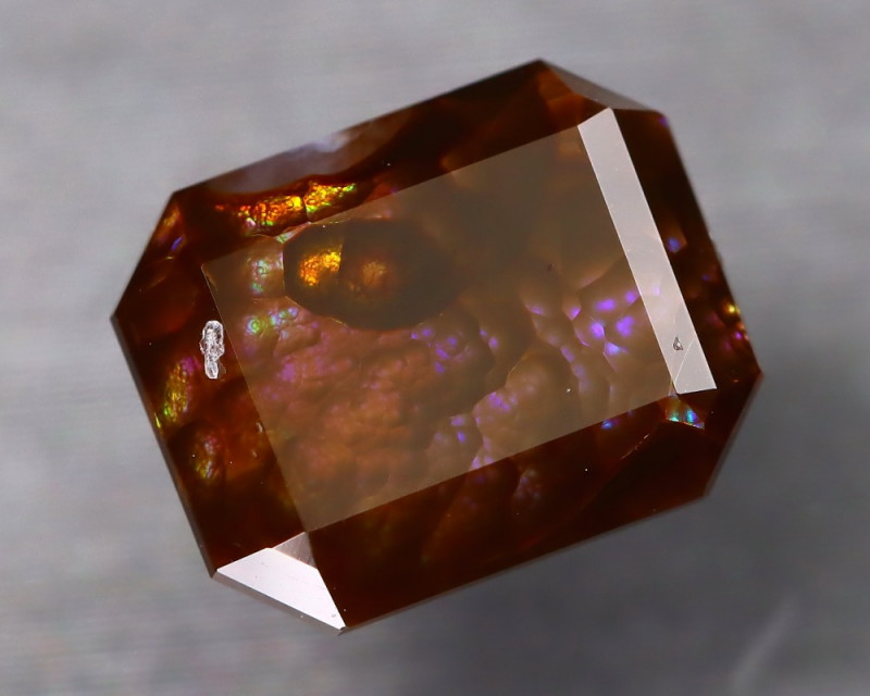 Fire Agate 3.13Ct Master Cut Natural Mexican Fire Agate AT0099