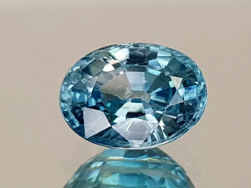 1.89Crt Blue Zircon Natural Gemstones JI21