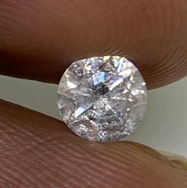 (H) Cert $1034 Precious 0.51cts SI3 Nat White Round Loose Diamond