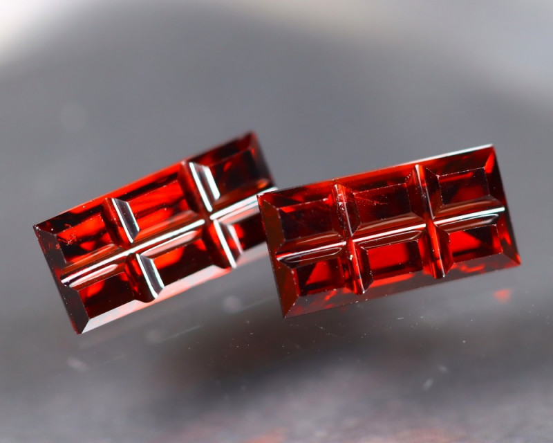 Spessartite Garnet 3.27Ct 2Pcs Designer Cut Natural Garnet C1107