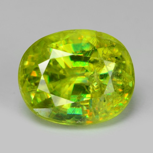 1.12 CT SPHENE WITH DRAMATIC FIRE AFGHANISTAN SH23