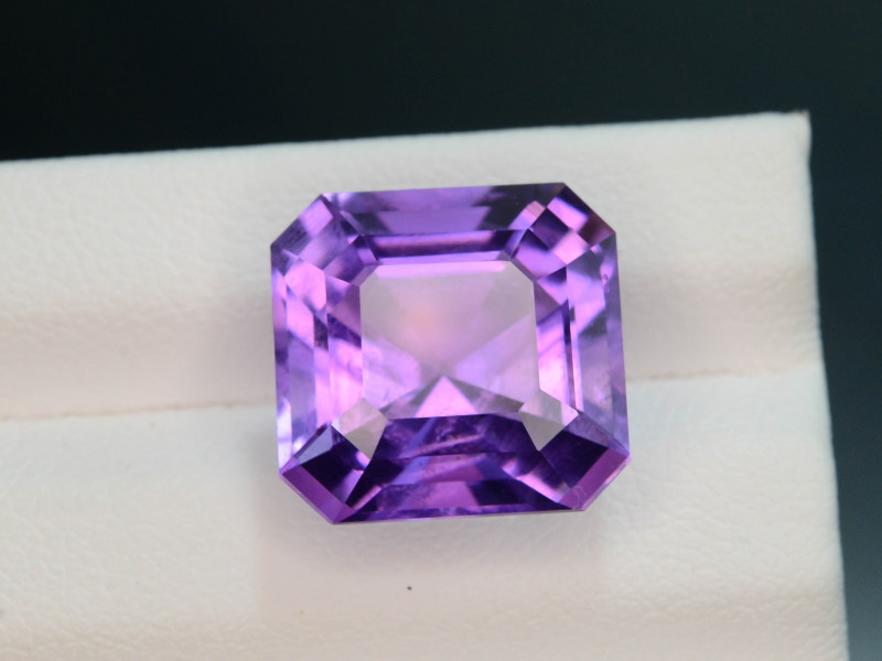Rich Purple 9.60 Ct Natural Ascher Cut Amethyst ~ Nigeria