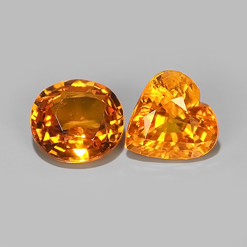 1.45 CTS~AWESOME NICE ORANGEISH-YELLOW SAPPHIRE FACET GENUINE~