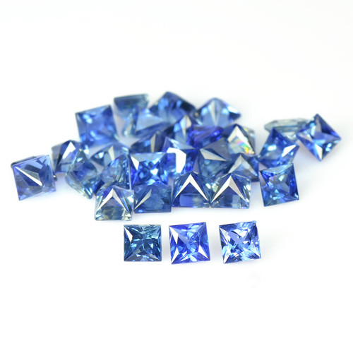 3.35 Cts 30 Pcs Amazing Rare Natural Fancy Blue Sapphire Loose Gemstone