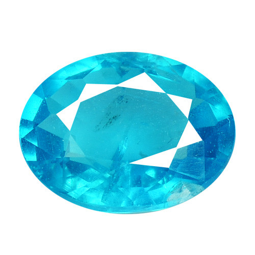 1.73 Cts Un Heated Natural Neon Blue Apatite Loose Gemstone