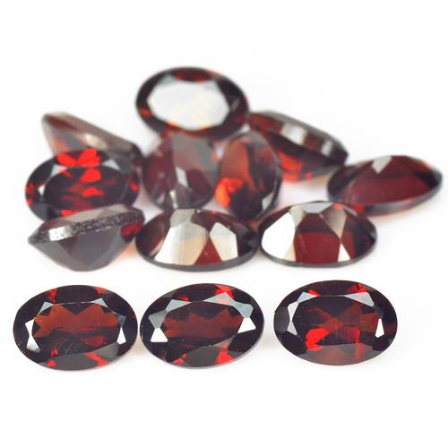 7.80 Cts 13 Pcs Unheated Natural Cherry Pinkish Red Rhodolite Garnet Gemsto