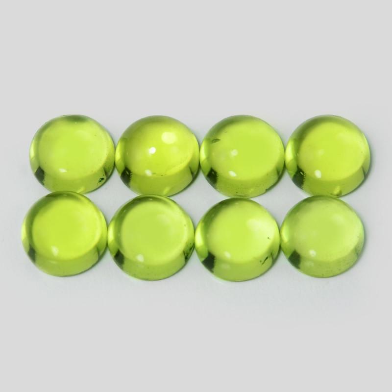 5.38 Cts 8 Pcs Green Color Natural Peridot Gemstones