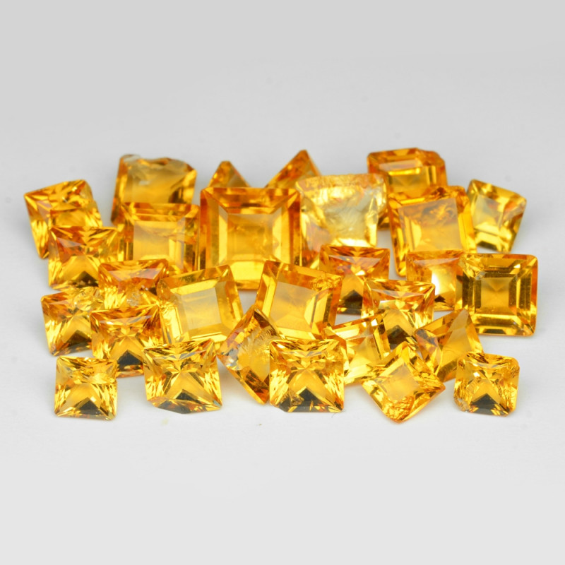 6.01 Cts 28 Pcs Fancy Golden Yellow Color Natural Citrine Gemstone