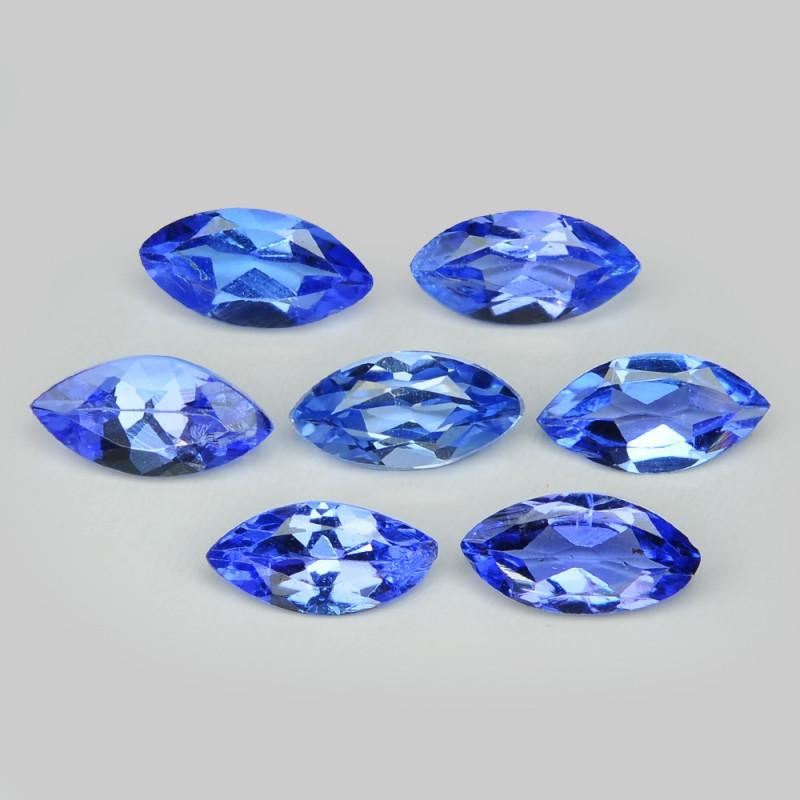 1.10 Cts 7pcs Amazing rare AA+ Violet Blue Color Natural Tanzanite Gemstone