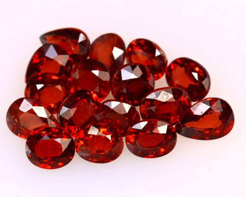 Garnet 7.64Ct 16Pcs Natural Spessartite Garnet EF1819/B1