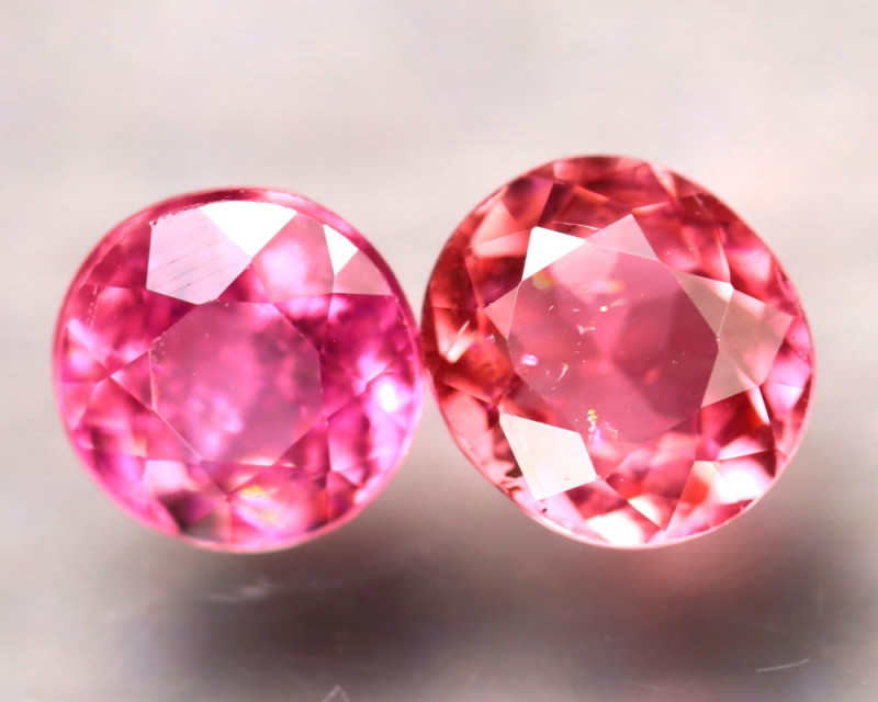 Tourmaline 1.72Ct 2Pcs Natural Pink Tourmaline EF1825/B19