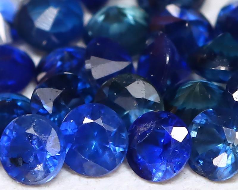 Blue Sapphire 1.18Ct Calibrate 2.0mm Natural Blue Sapphire Lot B900
