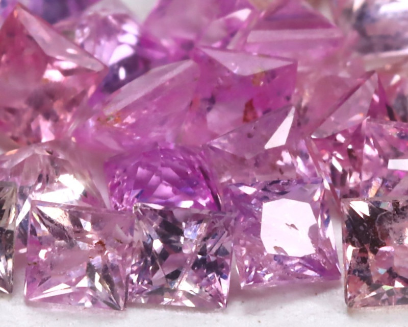 2.53Ct Princess 2.1mm Natural Untreated Pink Color Sapphire Lot B1027