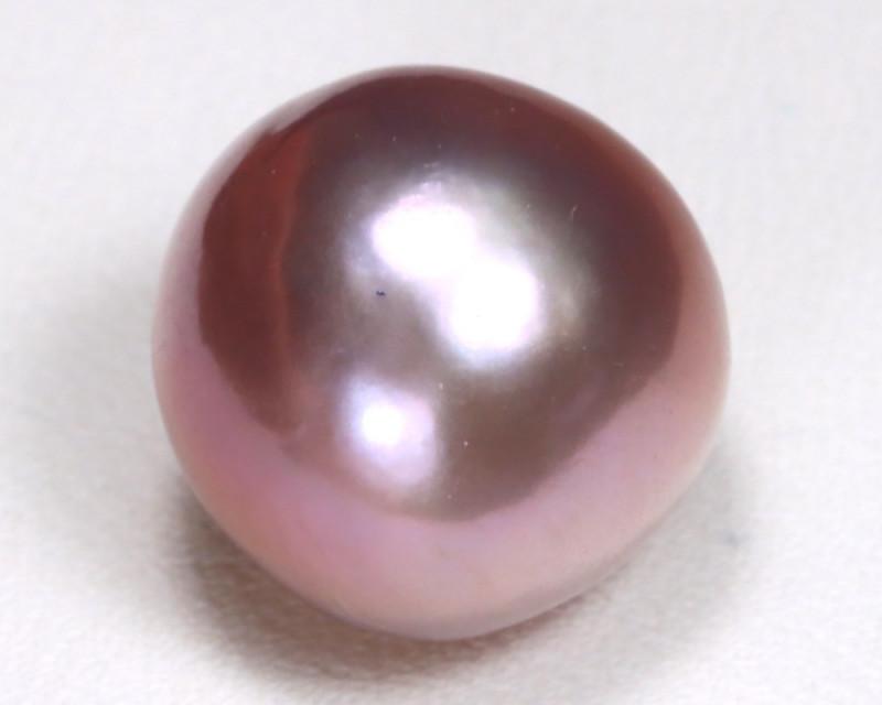 South Sea Pearl 12.4mm Natural Australian Purple Salt Water Pearl B949