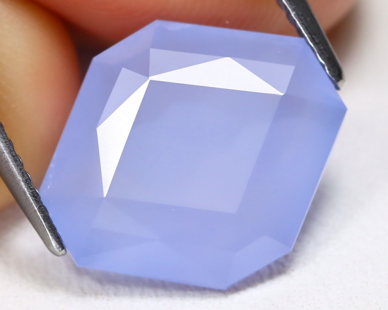 Chalcedony 6.18Ct Kite Cut Natural Blue Color Chalcedony B952