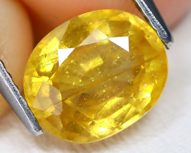 Yellow Sapphire 2.61Ct Oval Cut Yellow Color Sapphire B915