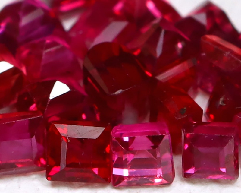 1.27Ct 1.8mm Burmese Ruby Natural Blood Red Ruby Lot B1006