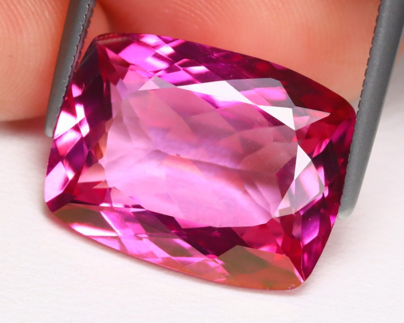 Pink Topaz 13.11Ct VVS Octagon Cut Natural Vivid Pink Topaz B983