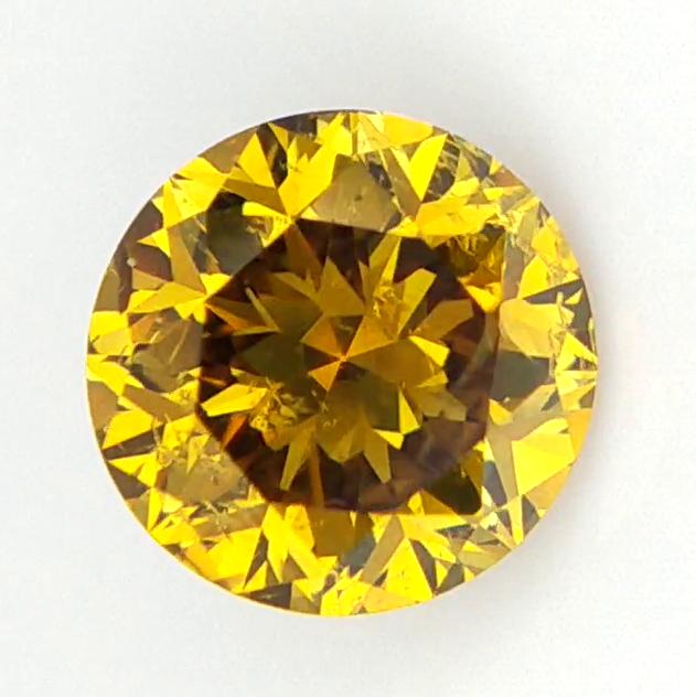 0.54 CTS . Natural Greenish Yellow Diamond , Sparkling Natural Diamond