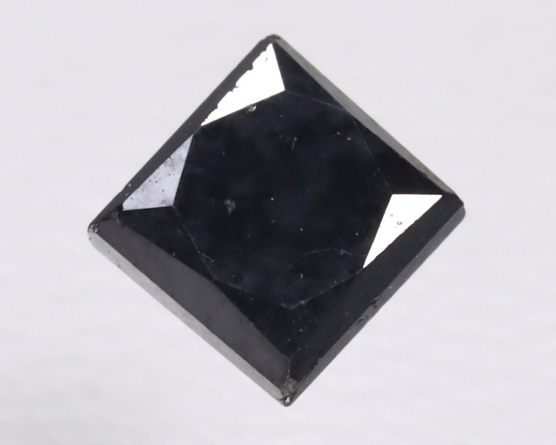 Black Diamond 0.55Ct Princess Brilliant Natural Black Diamond B942