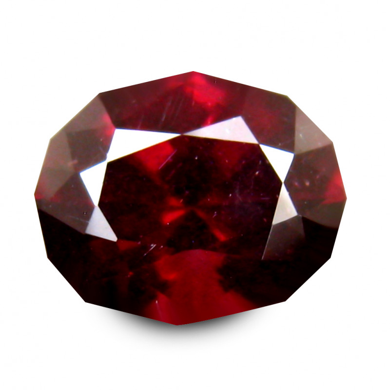 2.31 Cts Rhodolite Garnet  Orange Pink Geometric Cut BGC185