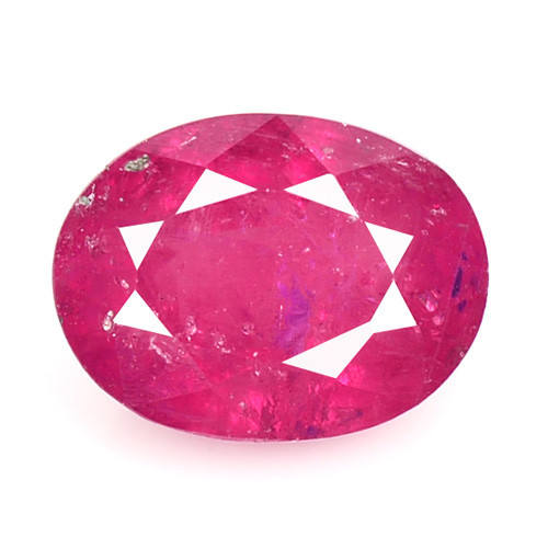 1.35 Cts Oval Shape Pinkish Red Natural Ruby BURMA  Loose Gemstone