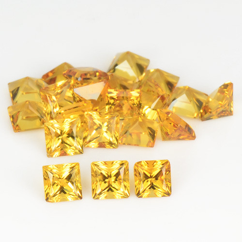 2.80 Cts 21 Pcs Fancy Golden Yellow Color Natural Citrine Gemstone