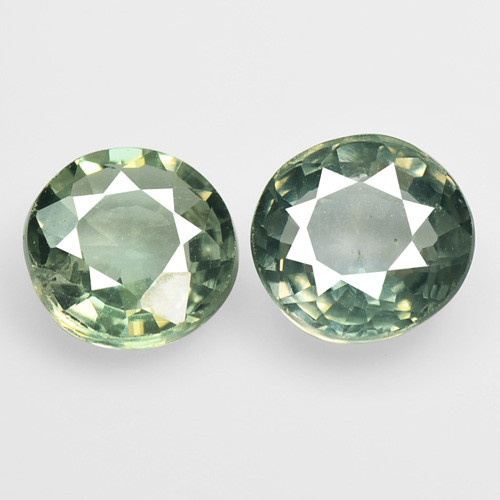 Green Sapphire 1.41 Cts 2 Pcs Amazing Rare Natural Fancy Gemstone