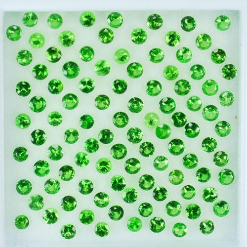 1.02 Cts Natural Vivid Green Tsavorite Garnet 69Pcs Round Cut Parcel Ken